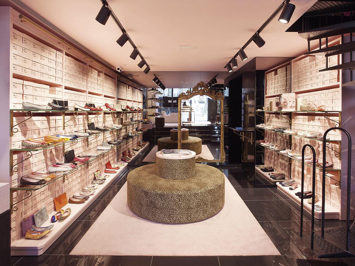 Flagship Stores de Pretty Ballerinas en Barcelona. Paseo de Gracia, 106.