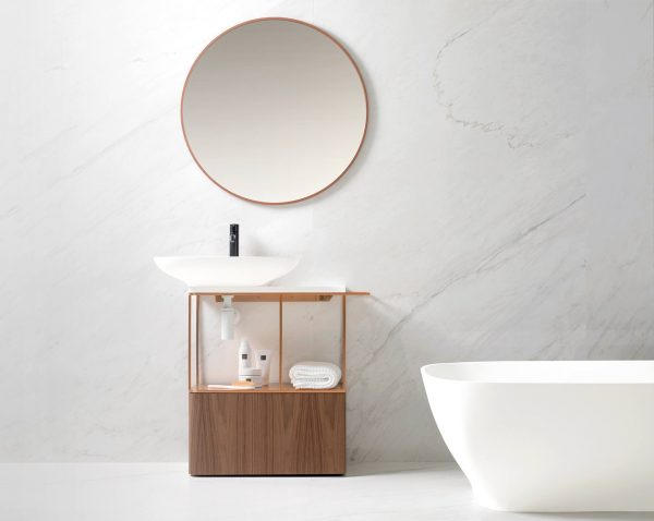 The Pure bathroom collection for Porcelanosa designed by Yonoh.