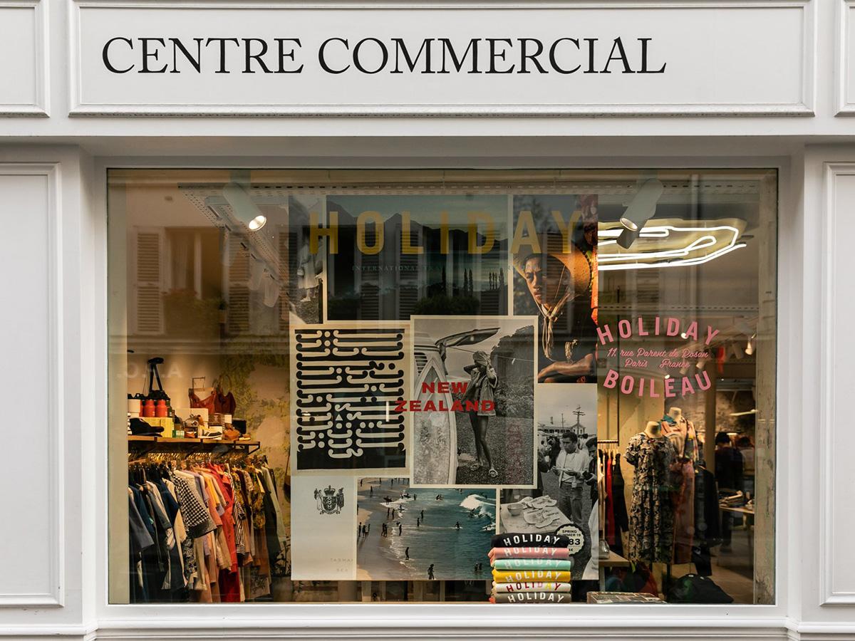 Fachada de Centre Commercial, París.