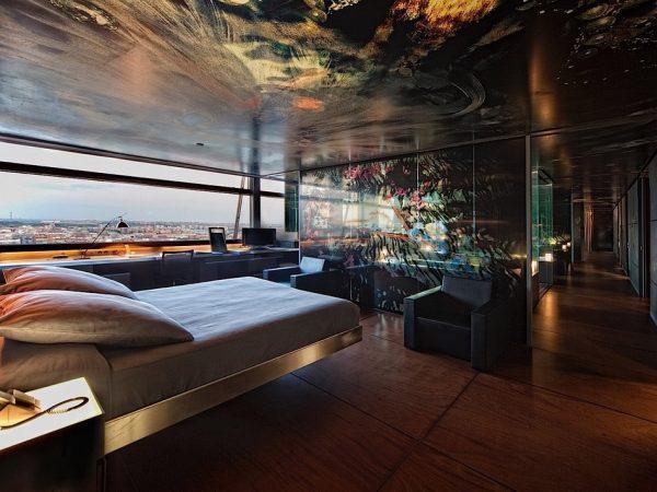A suite in Puerta América Hotel in Madrid.