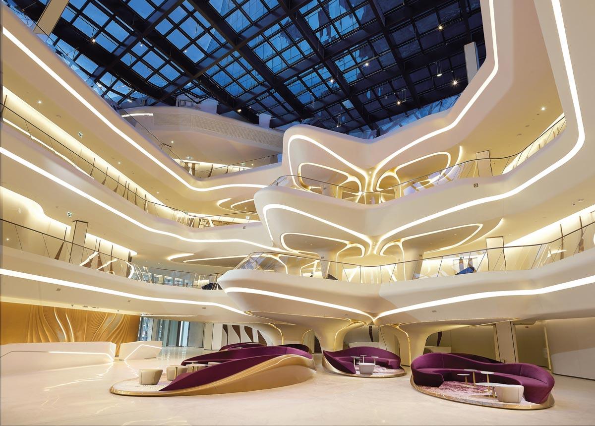 El hotel Me by Meliá de Dubái de Zaha Hadid