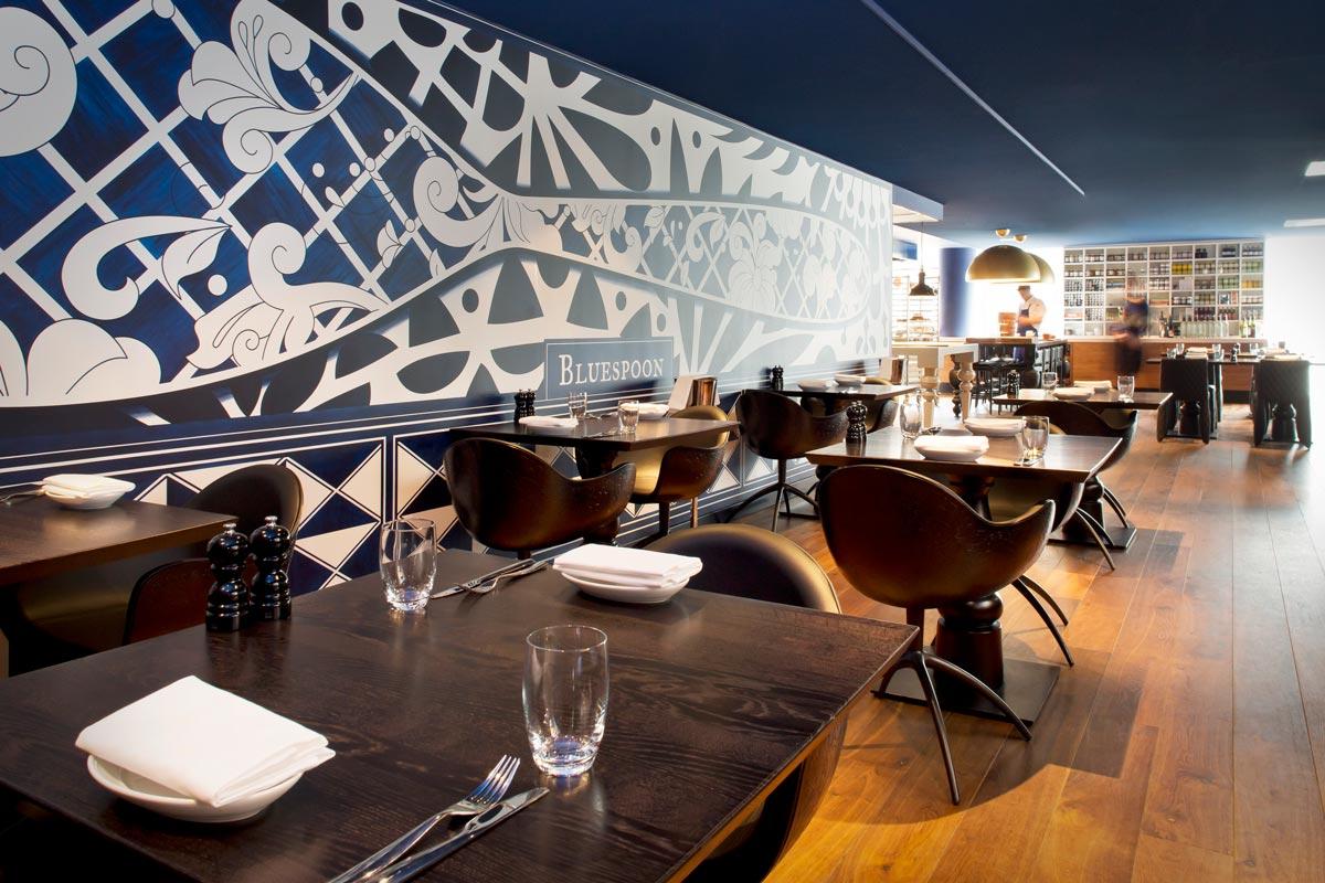 Restaurante del hotel Andaz Prinsengracht diseñado por Marcel Wanders.