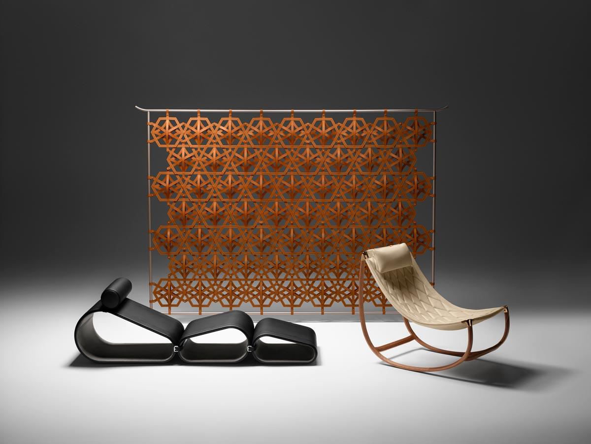 Objetos nómadas para Louis Vuitton, diseñado por Marcel Wanders.