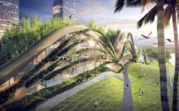 Las obras de Chaltiel plantean soluciones para construir de una manera más verde y sostenible. / Fotografía: Stephanie Chaltiel.