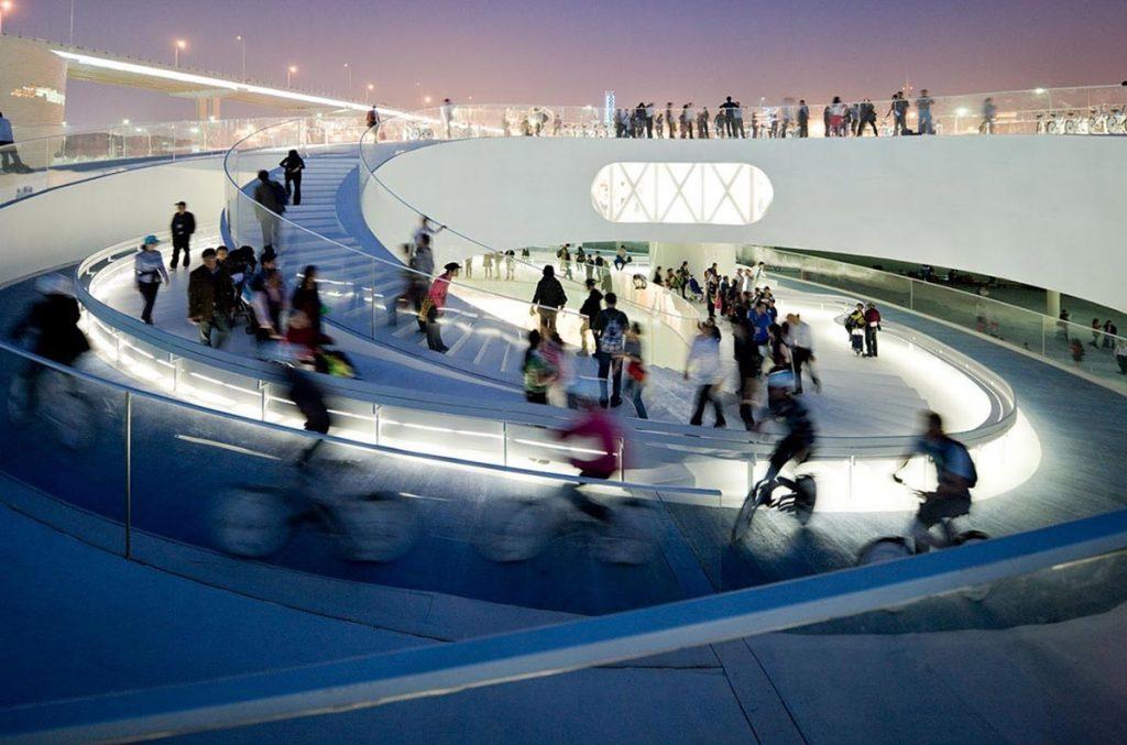 Danish Pavilion Shanghai realizado por BIG Studio. Imagen cortesía de Bjarke Ingels.