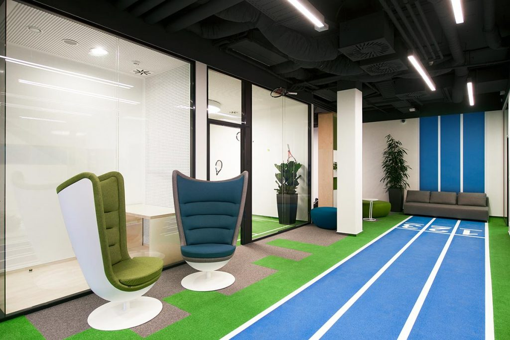 Sportisimo offices, healthy, green and recreational. Actiu furniture.