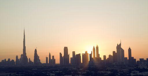 Vista general del Skyline de Dubái.
