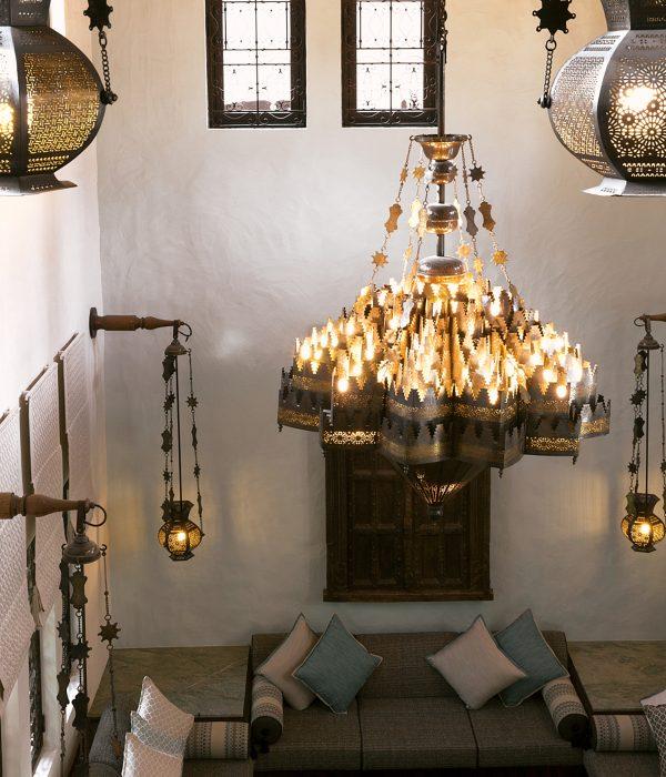 Las habitaciones del Dar Al Masyaf combinan lujo y comodidad.